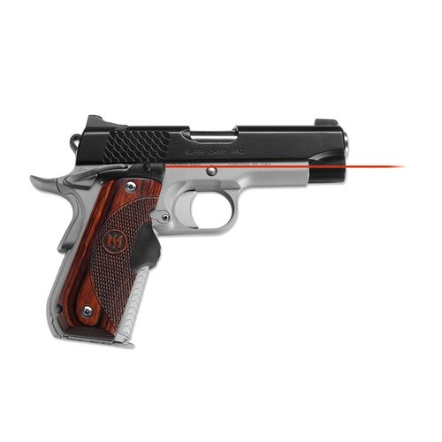 1911 Round Heel Rosewood Red Lasergrips