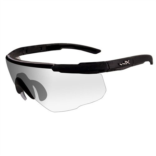 Clear Saber Shooting Glasses Black