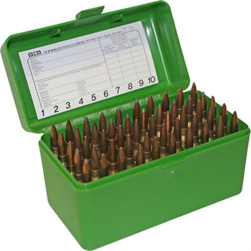 Ammo Boxes Rifle Green 17 Remington - 300 Whisper 50